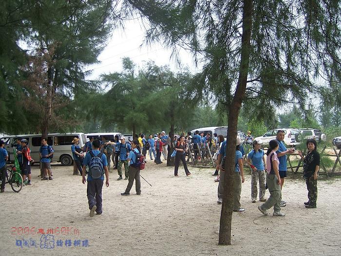 2006年参加惠州六十公里徒步